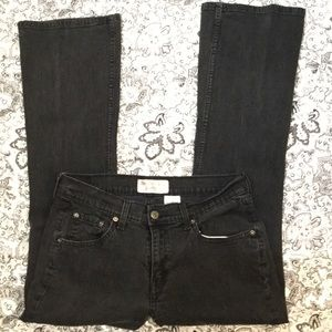 LEVIS SIGNATURE sz10 short black jean boot cut
